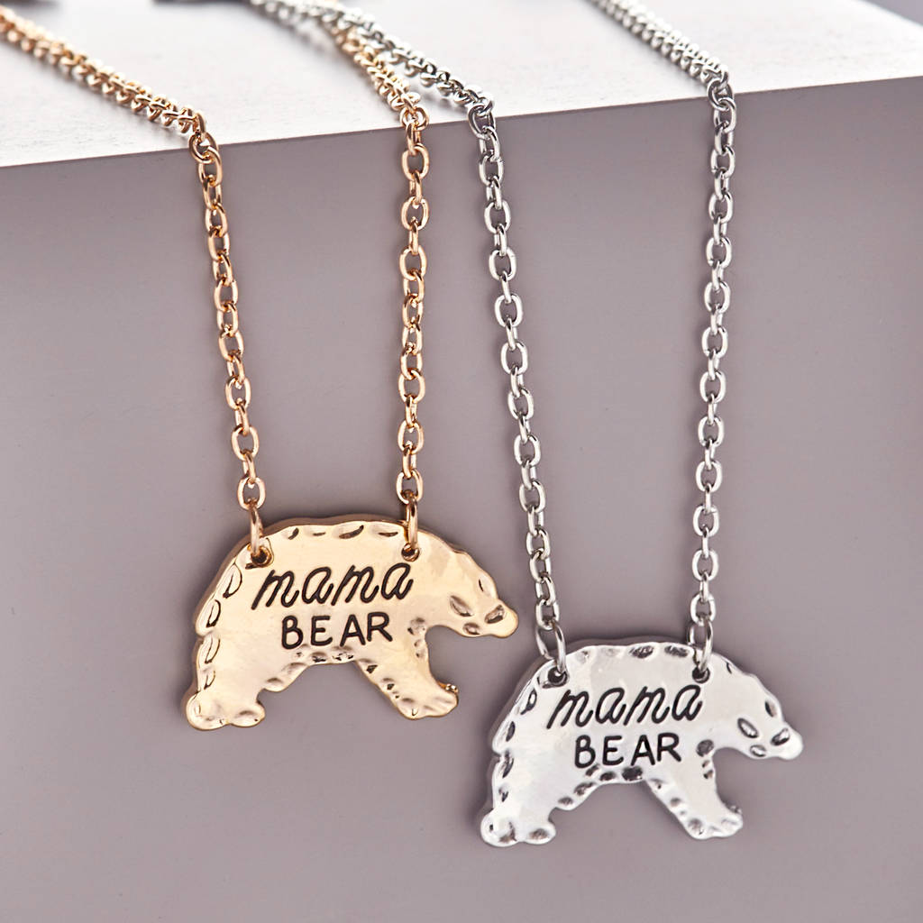family disc mothers mama baby day gift necklaces mom bear from enamel round pendant jewelry in silver necklace styles kids item