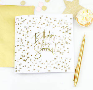 Personalised Birthday Card 'Gold stars' - birthday cards