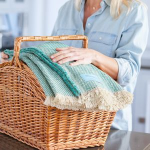 Sea Green Recycled Blanket - bedding & accessories