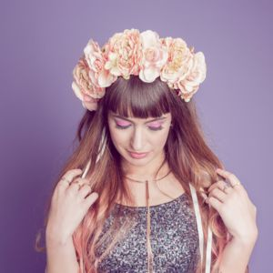 Peaches And Cream Floral Crown - whats new