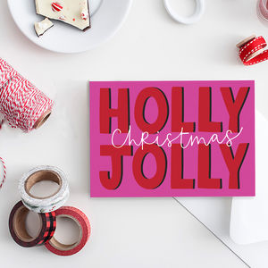 Holly Jolly Pack Of Six Christmas Cards - cards