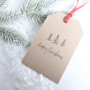 Little Trees Christmas Gift Tags