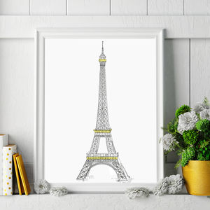 Eiffel Tower Signed Print