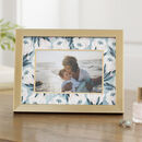 Gold Photo Frame With Floral Mount