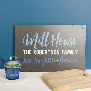 Personalised 'Family Home' Slate Sign - decorative accessories