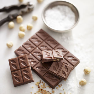 Hazelnut And Sea Salt Milk 41% Chocolate Bar - chocolates