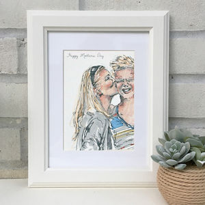 'Mummy & Me' Hand Drawn Illustration - children's room