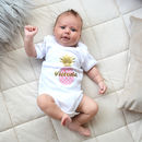 Personalised Pineapple Bodysuit