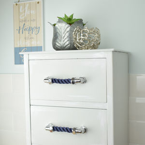 Chrome Rope Pull, Nautical Themed - door knobs & handles