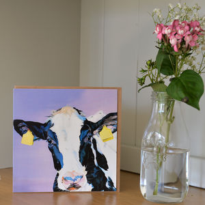 Minnie Cute Cow Greetings Card