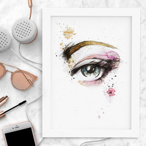 Mixed Media Fashion Eyes Print
