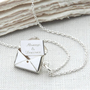 Personalised Sterling Silver Secret Letter Necklace - last-minute gifts for her