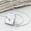 Personalised Sterling Silver Secret Letter Necklace