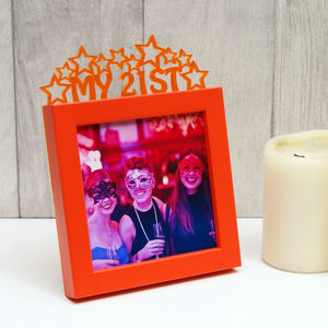 'My 21st' Birthday Mini Photo Frame - picture frames