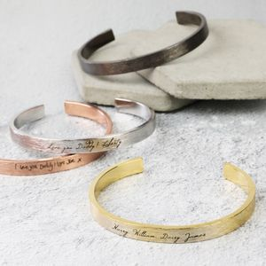 Men's Personalised Open Bar Bangle - bracelets