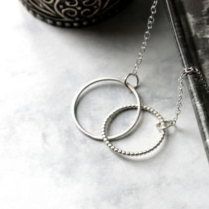 Linked Circle Necklace Sterling Silver