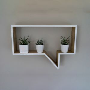 Speech Bubble Shelf Unit - shelves