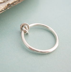 Eternity Knot Ring With Silver Knot - rings
