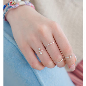 Sterling Silver Ultra Slim Ring Set - rings