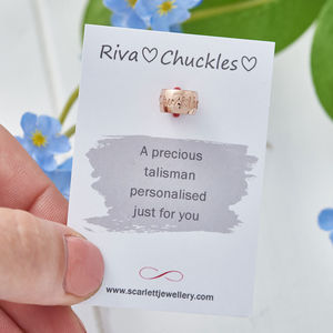 Personalised Charm Bead Solid Silver, Gold Or Rose Gold