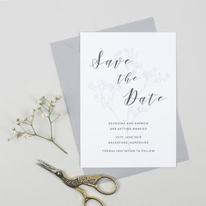 Spring Romance Save The Date Card