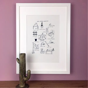 Personalised Holiday Memories Illustration Print