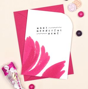 Celebration Card 'What Wonderful News' - winter sale