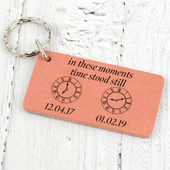 Special Moments Personalised Leather Keyring