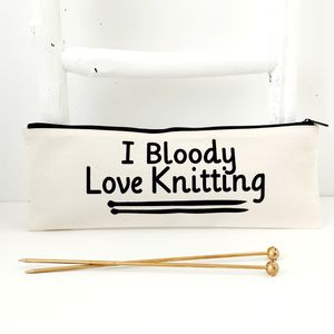 'Bloody' Knitting Needle Zipper Bag - craft-lover