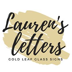 Lauren's Letters Gold Leaf Glass Signs