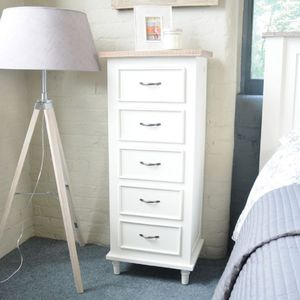 Bayonne Five Drawer Tallboy Chest Of Drawers - furniture