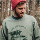 'Adventure Awaits' Heather Green Sweatshirt And Bag