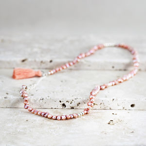 Pink Pearl And Tassel Necklace Or Bracelet
