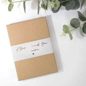 Personalised Thank You Gift Boxed Concertina Card - personalised