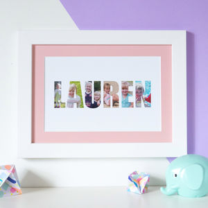 Personalised 'Girl's Name' Photograph Print - baby's room