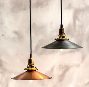 Copper Or Blackened Metal Light