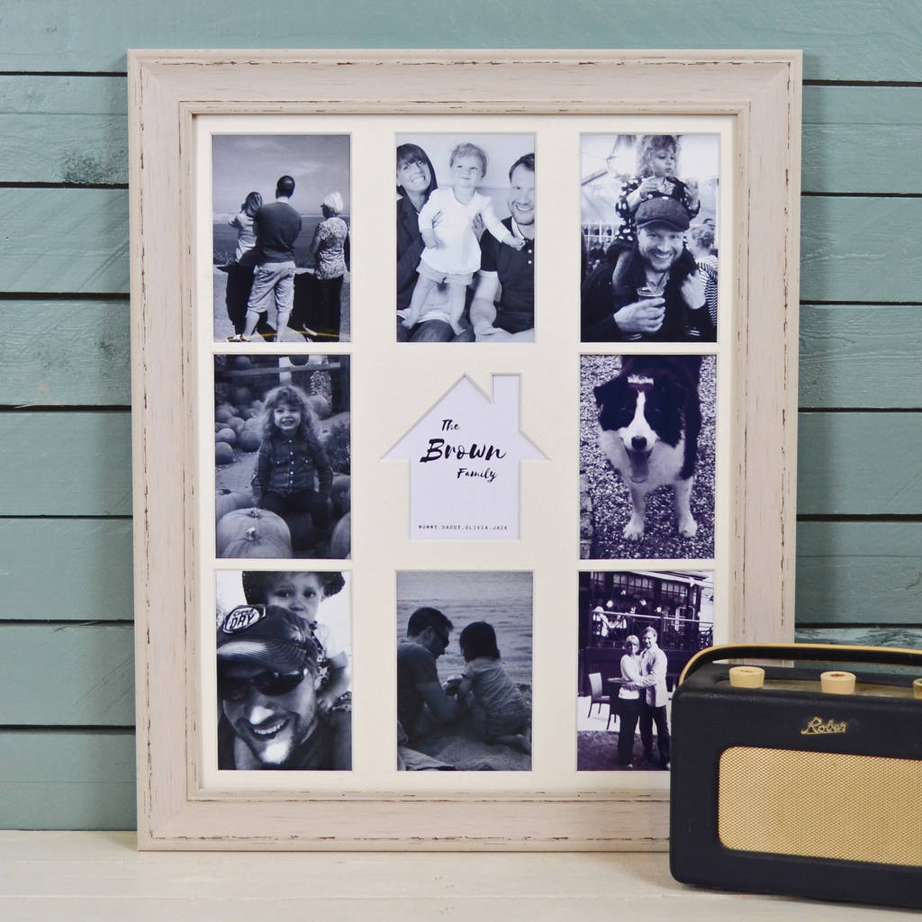 personalised house family multi picture photo frame by the orchard ...