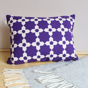 Mosaic Tile Rectangle Cushion - patterned cushions