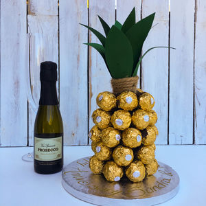 Pineapple Made From Prosecco And Ferrero Rocher - birthday gifts