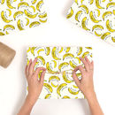 Personalised Banana Wrapping Paper
