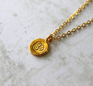 Sterling Silver And Gold Ohm Charm Necklace - necklaces & pendants