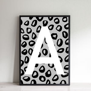 Personalised Leopard Initial Print - children's room