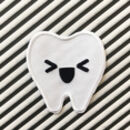 Embroidered Monochrome Milk Toof Patch