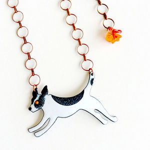Jack Russell Enamel Necklace - necklaces & pendants