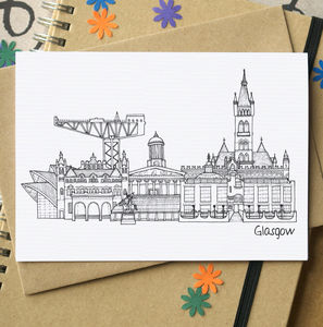 Glasgow Landmark Greetings Card - all purpose cards