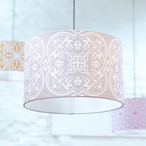Moroccan Tile Lampshade In Grey - lampshades