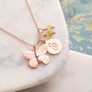 Personalised Rose Gold Butterfly Necklace