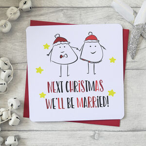 Next Christmas We'll Be Married Fun Character Card