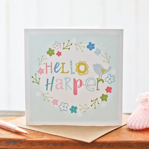 Personalised Card For A New Baby Girl - new baby cards