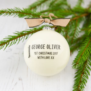 Personalised Baby's First Christmas Bauble - christmas decorations